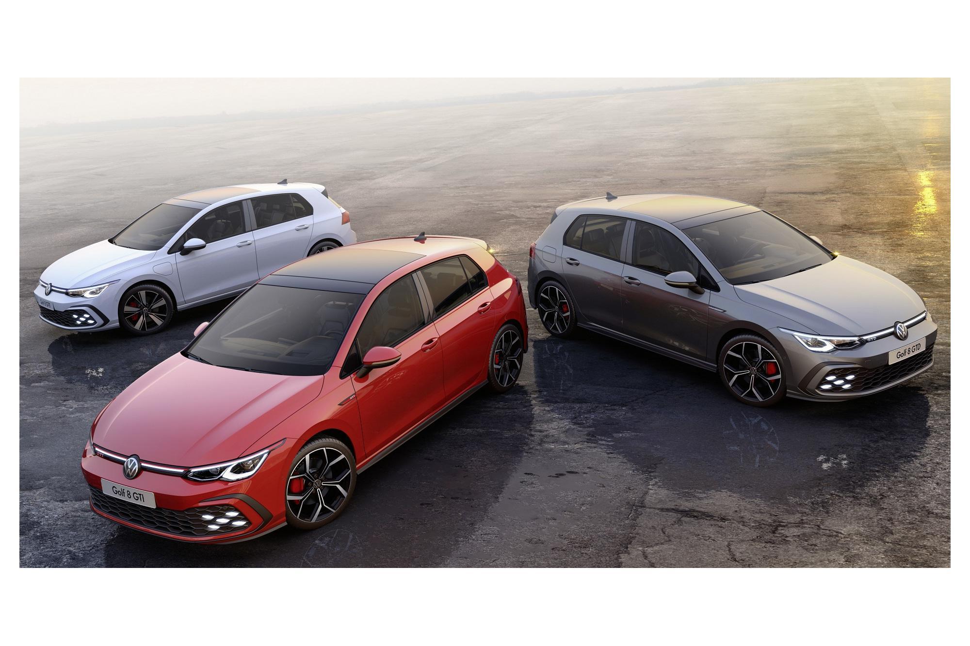 Έρχονται τα VW Golf GTI, GTE και GTD!