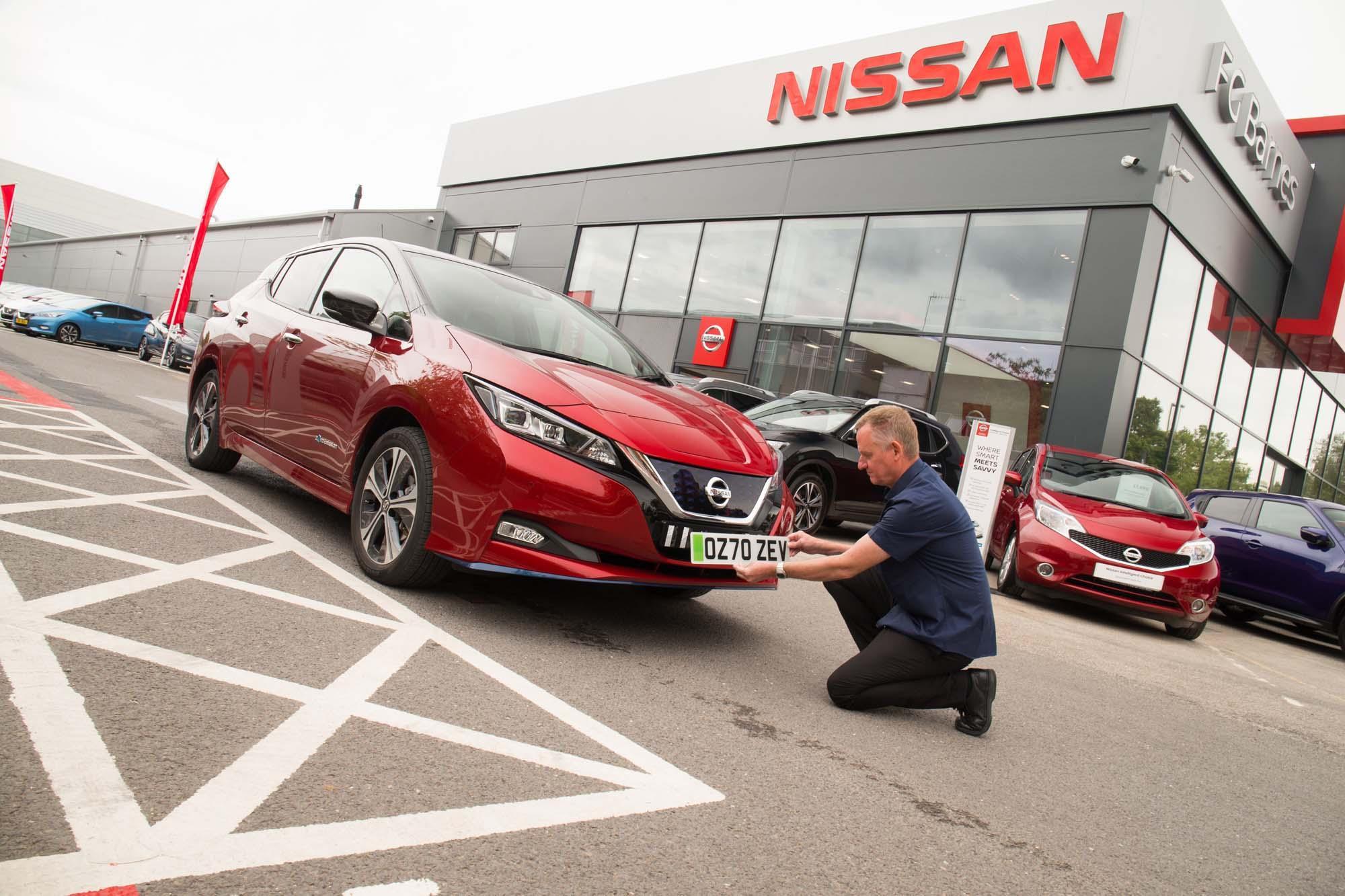 Nissan με πράσινες πινακίδες στην Αγγλία